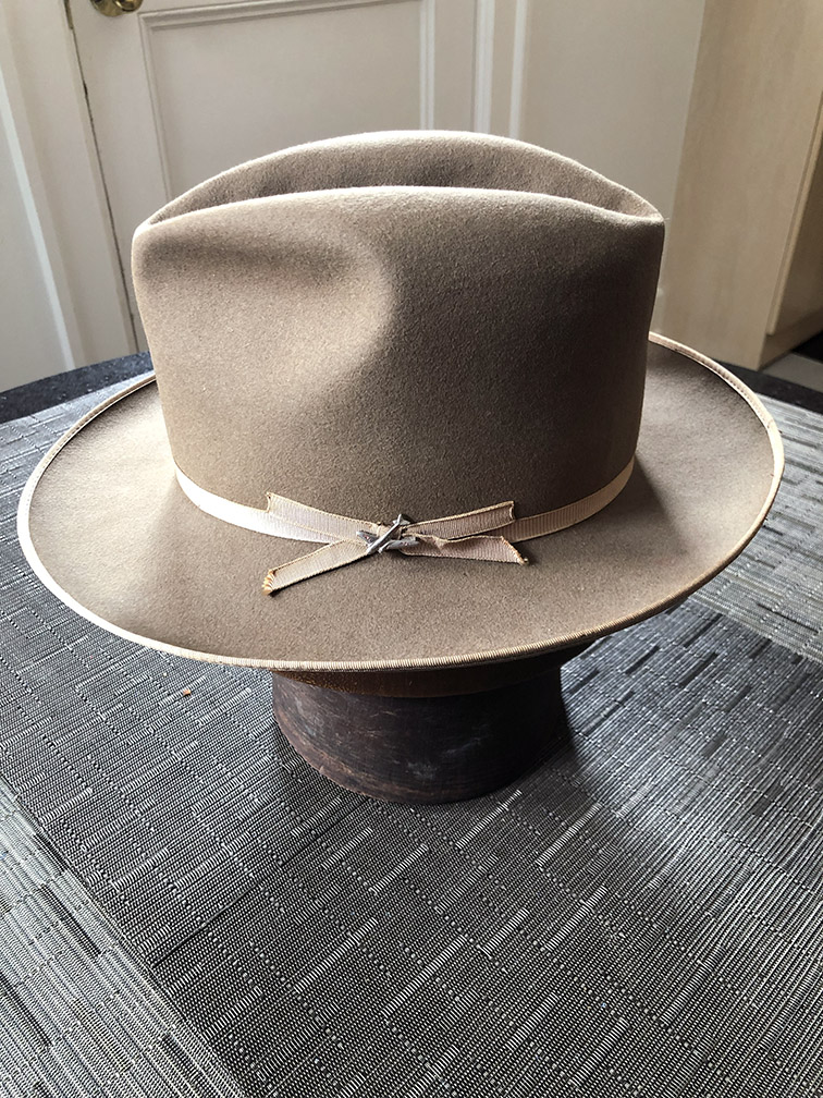 0a716ee78 Early Stetson Stratoliner with original pin | The Fedora Lounge